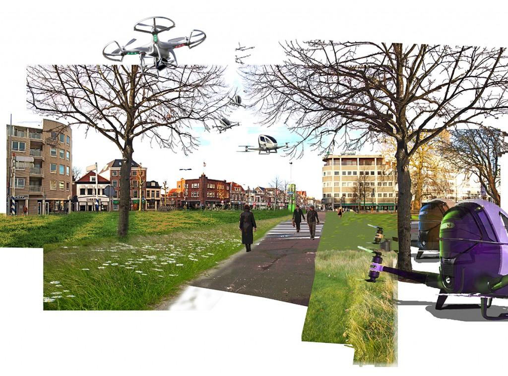 Het Houtplein in 2036